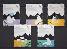 Ross Dependency 2009 Antarctic Treaty 50th Anniversary Set Of 5 Used - Ross Dependency (New Zealand)