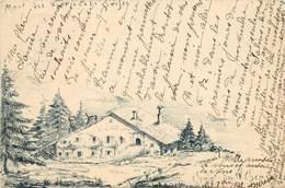 VERRIERES - Chalet Des IV Cheminées.(carte Illustrée). - NE Neuchâtel