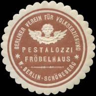 Berlin: Pestalozzi Fröbel-Haus Siegelmarke - Erinofilia