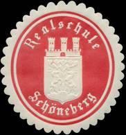 Berlin: Realschule Schöneberg Siegelmarke - Erinnofilie