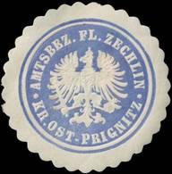 Flecken Zechlin: Amtsbezirk Flecken Zechlin Kreis Ost-Prignitz Siegelmarke - Cinderellas