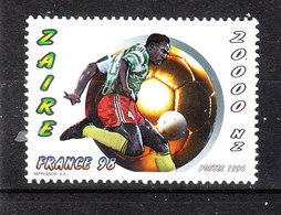 Zaire  -  1996. France '98. Giocatore Africano. 20000 NZ  . MNH - Europei Di Calcio (UEFA)