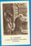 Holycard    St. Adelbert   Egmond - Devotieprenten