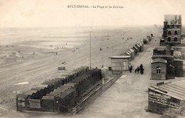CPA (Somme 80) Ault-Onival - La Page Et Les Cabines - Vue Rare Panneau Vente De Terrains 6 Francs Le Mètre M. GROS - Ault