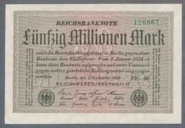 P109 Ro108h DEU-123c. 50 Million Mark 1923 NEUF UNC - [ 3] 1918-1933 : Repubblica  Di Weimar
