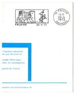 CHATEAU = 14 FALAISE 1972 = FLAMME SUPERBE FDC = SECAP Illustrée D'un Cavalier 'églises' - Marcophilie (Lettres)