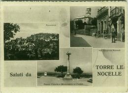TORRE LE NOCELLE ( AVELLINO ) SALUTI - VEDUTINE - EDIZ. TUTTO - 1955 (3111) - Avellino
