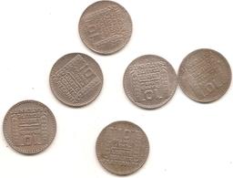 5 Pieces De 10 Francs Turin Petite Tete Plus 1946 Grosse Tete Voir Detail En Dessous - France