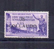Italia - 1942 -  ETICHETTA - ERINNOFILO - Libri Unici Per Le Scuole Elementari - Sovrastampato 75 COLLAUDO - (FDC14829) - Erinofilia