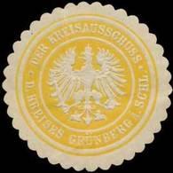 Grünberg/Schlesien: Der Kreisausschuss Des Kreises Grünberg In Schlesien Siegelmarke - Erinnofilia