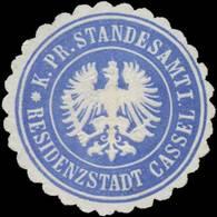 Kassel: K.Pr. Standesamt Residenzstadt Kassel Siegelmarke - Cinderellas
