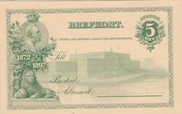 SWEDEN SUEDE SCHWEDEN  1897 P28  BREFKORT   STATIONARY KARTENBRIEFE CARTE POSTALE - MINT - Ganzsachen