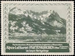 Garmisch-Partenkirchen: Blick Auf Alpspitze Reklamemarke - Cinderellas