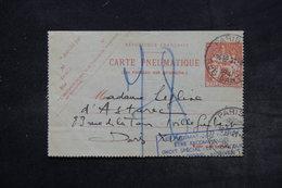 FRANCE - Carte Pneumatique De Paris En 1941 , Cachet De Propagande Pour Recommandation - L 26781 - Pneumatiques