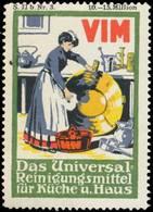 Mannheim: VIM Das Universal-Reinigungsmittel Reklamemarke - Cinderellas