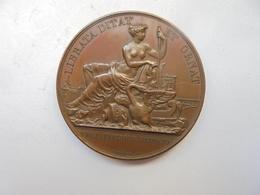 COMPAGNIE DES CANAUX DE PARIS-LOI DU 20 MAI 1818 Par GAYRARD F. 20 Grammes-35 Mm - Professionnels / De Société
