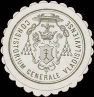 Warschau: General Konsistorium Warschau Siegelmarke - Erinnofilie