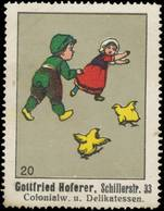 Kinder Spielen Fange Reklamemarke - Cinderellas