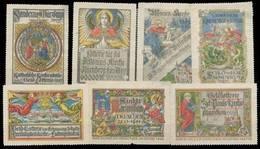 Würzburg, München, Ludwigshafen, Rosenheim, Nürnberg: Katholische Kirche Lotterie Sammlung - Cinderellas