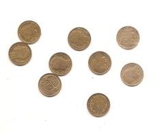 9 Pieces De 50 Centimes  Morlon Bronz Alu Voir Detail En Dessous - France