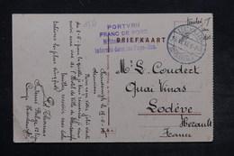 BELGIQUE - Correspondance D ' Un Prisonnier Belge Aux Pays Bas En 1916 Sur Carte Postale Pour La France - L 26787 - WW I
