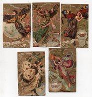 Femmes-papillon : : Lot De 5 Chromos CAFE ET CHOCOLAT DES GOURMETS (PPP17954) - Chocolat