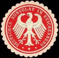 Reichenberg: Deutsches Konsulat In Reichenberg/Böhmen Siegelmarke - Cinderellas