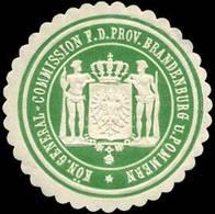 Potsdam, Stettin: Königliche General - Commission Für Die Provinz Brandenburg Und Pommern Siegelmarke - Cinderellas