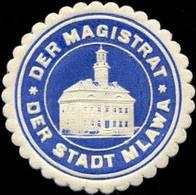 Mlawa: Der Magistrat Der Stadt Mlawa Siegelmarke - Vignetten (Erinnophilie)