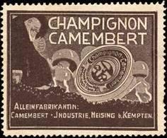 Heising Bei Kempten: Champignon Camembert Reklamemarke - Vignetten (Erinnophilie)