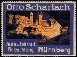 Nürnberg: Auto- Und Fahrrad-Beleuchtung Reklamemarke - Erinnofilie