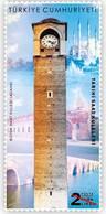 AC- TURKEY STAMP - HISTORICAL CLOCK TOWERS ADANA CLOCK TOWER MNH ADANA 02 APRIL 2019 - 1921-... République