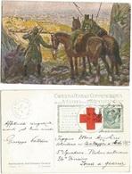 Croce Rossa Italiana Cart. IV° Guerra Indipendenza - T. Cascella - Viaggiata Napoli 26feb1915 X Zona Guerra - Perfetta - Croce Rossa