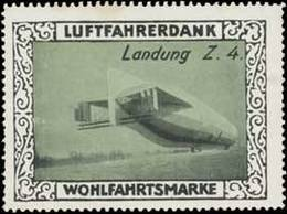 Zeppelin Landung Z. 4 Reklamemarke - Cinderellas