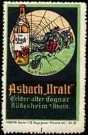 Rüdesheim / Rhein: Asbach Uralt Reklamemarke - Erinnophilie