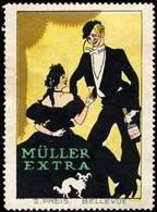 Müller-Extra Reklamemarke - Vignetten (Erinnophilie)