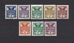 Czechoslovakia 1920 MNH ** Mi 162-169 Sc 65-67, 82-85 Carrier Pigeon With Letter.Troube Mit Brief. Tschechoslowakei - Czechoslovakia