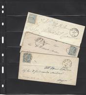 Italia Regno DLR 1863,lettere(3 Pezzi),2 Da Alcamo Per Mazzara E 1 Da Messina Per Marsala,buona Qualita - 1861-78 Victor Emmanuel II