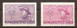 Corée Du Sud South-Korea 1957 Yvertn° 178-179 *** MNH Cote 7 Euro Cinquantenaire Du Scoutisme - Corée Du Sud