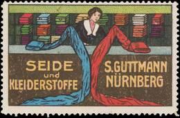 Nürnberg: Seide Und Kleiderstoffe Reklamemarke - Erinofilia