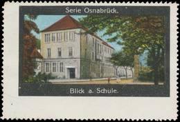 Osnabrück: Blick Auf Die Schule Reklamemarke - Cinderellas