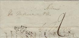 1812- Letter From  123 / MEPPEL ( L'EMS Occidental ) 35 Mm Noir - Nederland