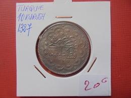 OTTOMAN-TURQUIE : 10 KURUSH 1327 AH - ARGENT - Turquie