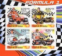 Guine-Bissau 2011  -  Formula 1 -  Alonso-Petrov-Schumacher-Hamilton - 4v Feuillet Neuf/Mint/MNH - Automobile