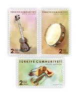 AC - TURKEY STAMP - TURKISH MUSICAL INSTRUMENTS TAR, ERZURUM DEFI, AGIZ KOPUZU MNH  19 MARCH 2019 - Nuevos