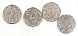 4 Pieces De 50 Centimes Francisque 1942/43/44B/44C - G. 50 Centimes