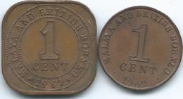 Malaya & British Borneo - Elizabeth II - 1961 - 1 Cent (KM5) & 1962 (KM6) - Colonies