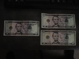 5 DOLLARS   X 3    SERIES 2013  2006 - USA