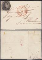 Belgique - Lettre 12/06/1850 COB Nº1 Margé De Audenaerde Vers Berchem + Certificat (DD) DC2751 - 1849 Epaulettes