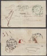 """Belgique - Lettre 1837 De Bruxelles Vers Angleterre """" Franco Oostende """" (DD) DC2752 - 1830-1849 (Belgique Indépendante)"""